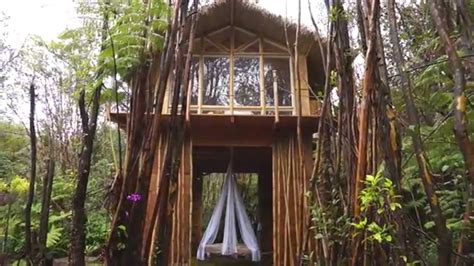 House Plans Cabin by Dreamy Tropical Treehouse On The Big Island Hawaii Youtube