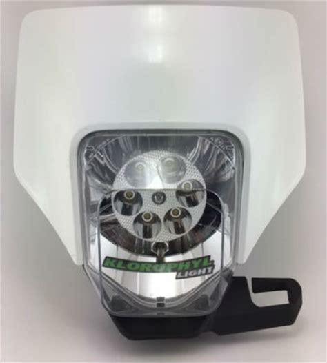eclairage led moto enduro plaque phare enduro led klorophyl k2 eclairage moto xenon