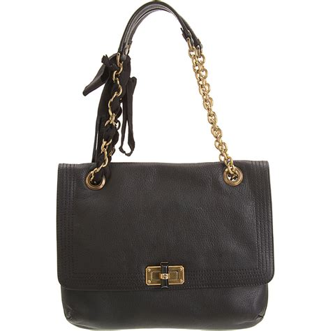 Lanvin Happy Bag lanvin happy mm shoulder bag in black lyst