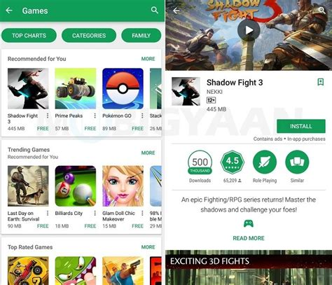 Play Store India Play Store Now Showing App Size On Home Screen To