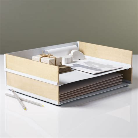 modern desk accessories portola paper tray modern desk accessories atlanta