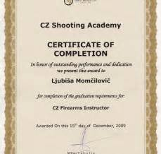 shooting certificate templates welcome to ljubisa momcilovic official web site licenced