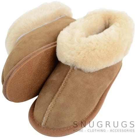 toddler sheepskin slippers sheepskin slippers with wool cuff chestnut snugrugs