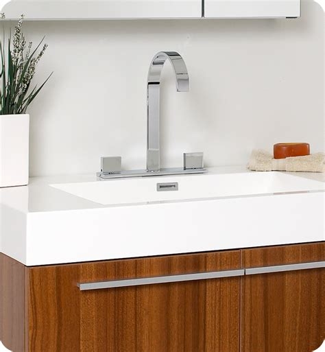 bathroom fauset fresca vista teak modern bathroom vanity with medicine cabinet