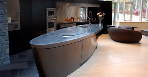 Soup Countertops Black Concrete Countertop Island By Soup In Florence