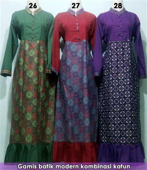 gamis batik kombinasi modern grosir batik pekalongan