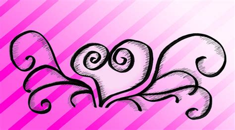 swirly heart tattoo cliparts co