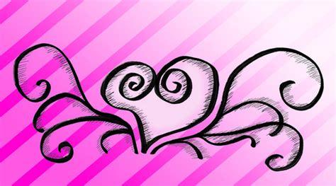 swirly heart tattoo cliparts co