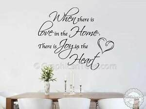 inspirational family wall sticker love home quote living dining room wall decor ebay