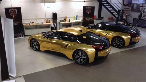 bmw i8 gold twin bmw i8 full mirror gold wrap youtube