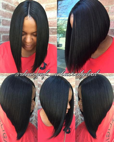 short invisible part hairstyles invisible part quick weave bob razored to perfection
