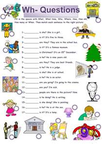 50 free esl wh questions worksheets