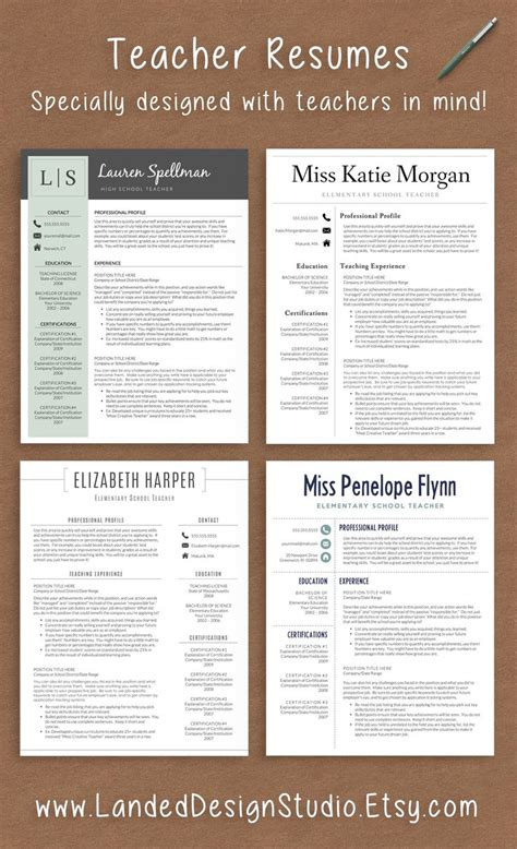 Teachers Resume Template by 25 Best Ideas About Resumes On