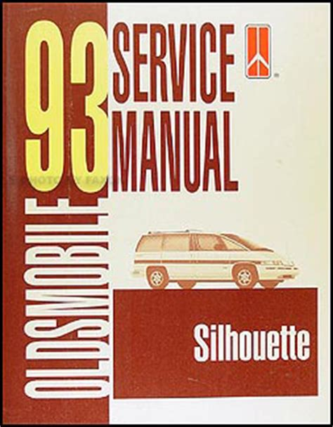 car owners manuals free downloads 1993 oldsmobile silhouette transmission control 1993 oldsmobile silhouette van repair shop manual original