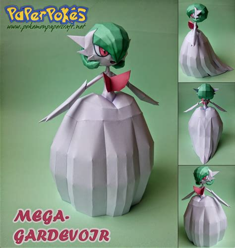 Gardevoir Papercraft - mega gardevoir paper model