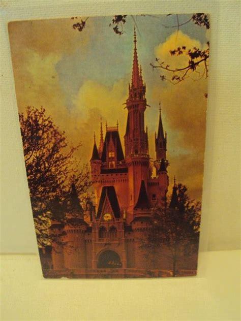 vintage postcard walt disney world florida cinderella