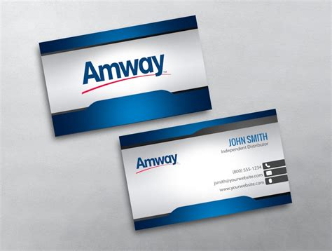 amway business card template amway business card 04