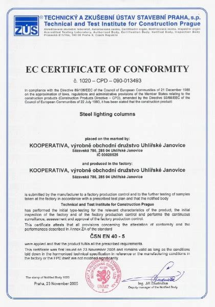 certificate of conformity template product conformity certificate sle image collections
