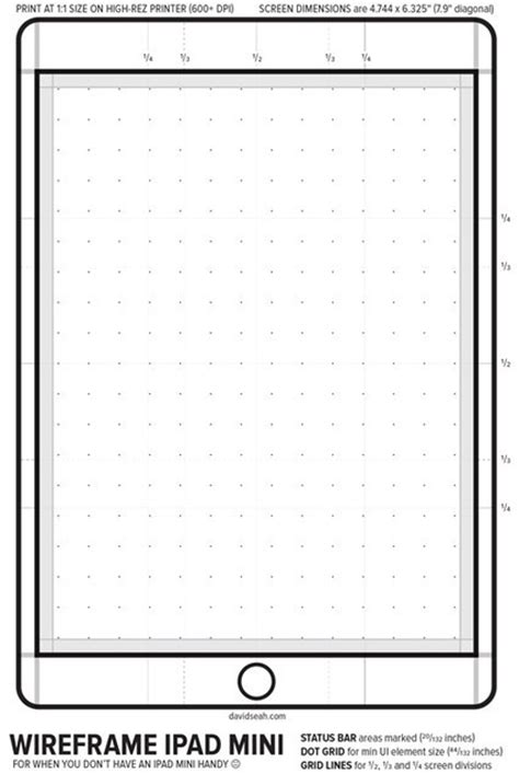 ipad mini wireframe template update filemaker