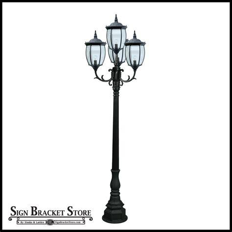 cast aluminum light post residential victorian street light with 4 ls