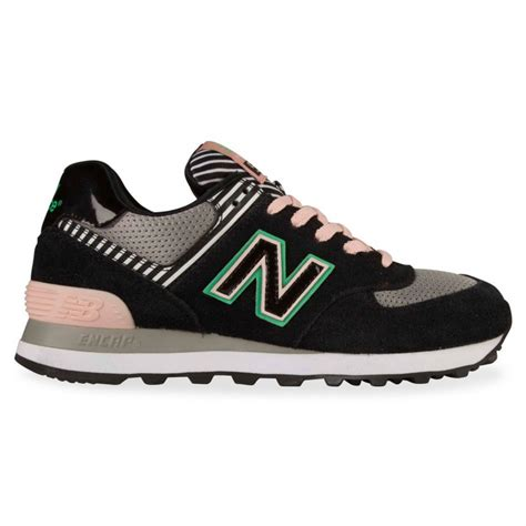 Are New Balance 574 Comfortable by New Balance 574 Womens Black Light Pink Stripe Hype Dc