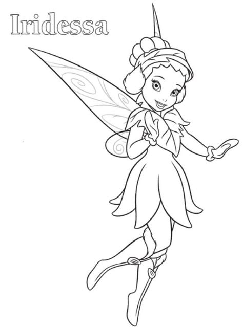 iridessa tinkerbell coloring page embroidery digi people
