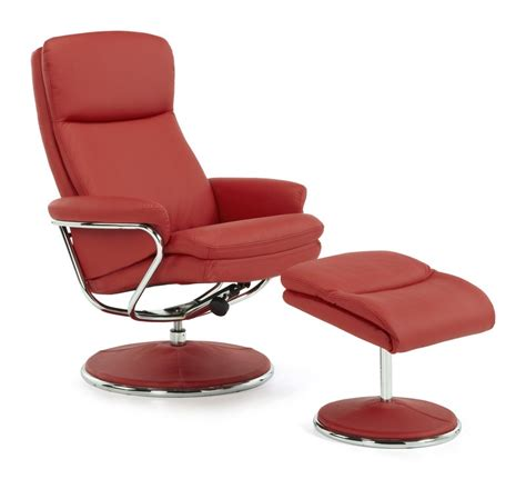 faux leather swivel recliner chair and stool halden faux leather swivel recliner stool capital