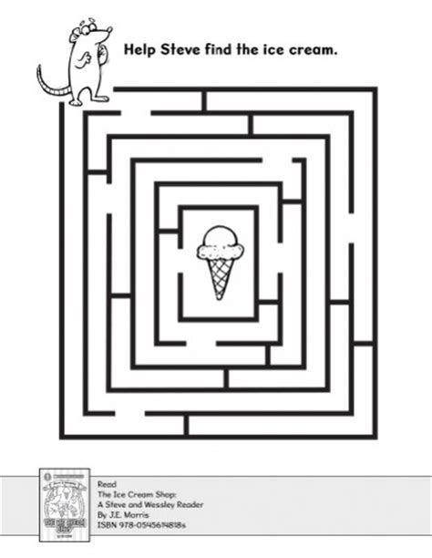 printable maze age 5 find the ice cream in the maze parents scholastic com