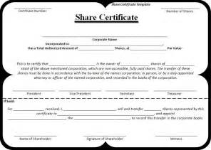 Shareholding Certificate Template by Certificate Template Free Word Templatesfree Word