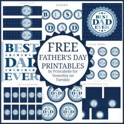 free s day printables yesterday on tuesday