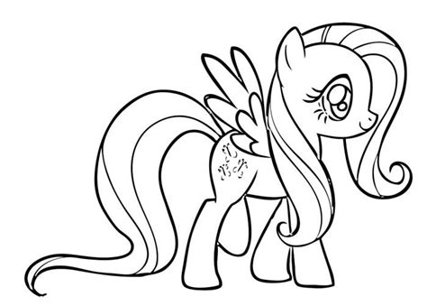 free baby fluttershy coloring pages