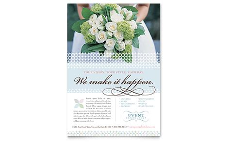 livecycle layout ready event wedding event planning flyer template word publisher