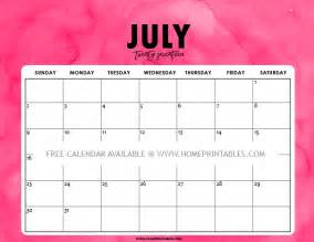 Printable July 2017 Calendar Free Printable July 2017 Calendar 8 Colorful Styles