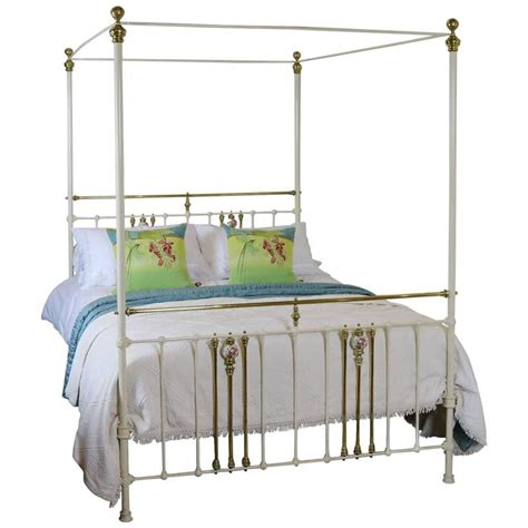 four poster beds for sale cream metal four poster bed for sale at 1stdibs