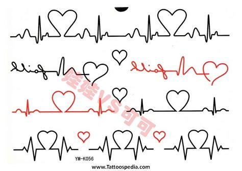 Heartbeat Trace Tattoo | heart with ekg clip art