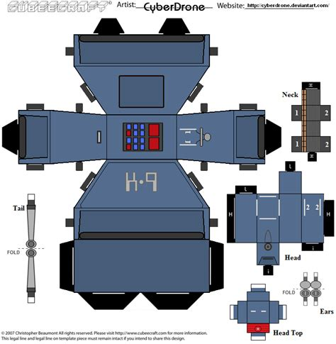 Cubee Papercraft - cubee k 9 mk v by cyberdrone on deviantart