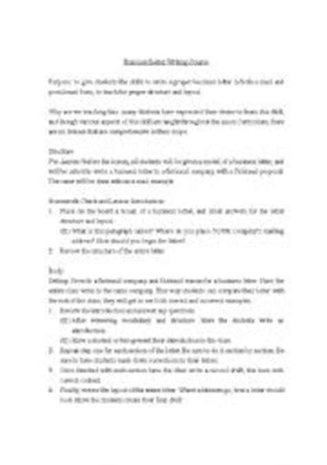 business letter writing exercises for students worksheet on writing a business letter writing a