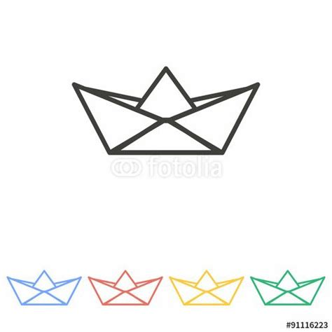 origami boat logo vector paper boat icon layout pinterest