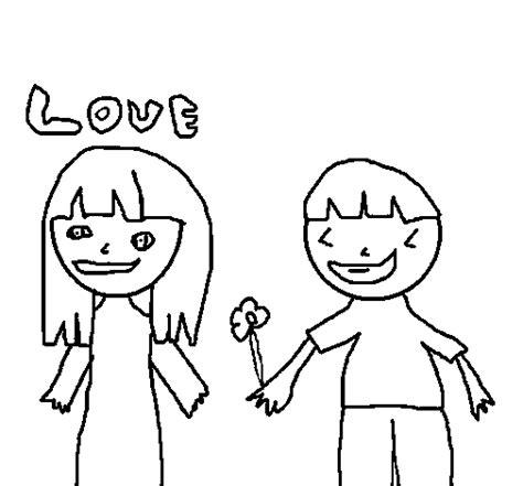 imagenes para videos de enamorados dibujo de ni 241 os enamorados para colorear dibujos net
