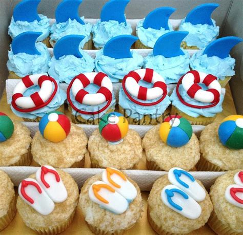 Beach Themed Cupcakes Cake Pantry Themed Cupcakes