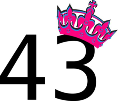 pink tilted tiara  number  clip art  clkercom