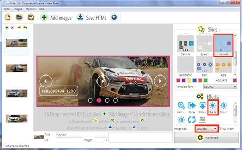 jquery layout animation non jquery carousel