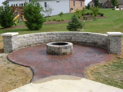 Paver Patio Designs With Fire Pit Unique Hardscape Paver Patio Pit