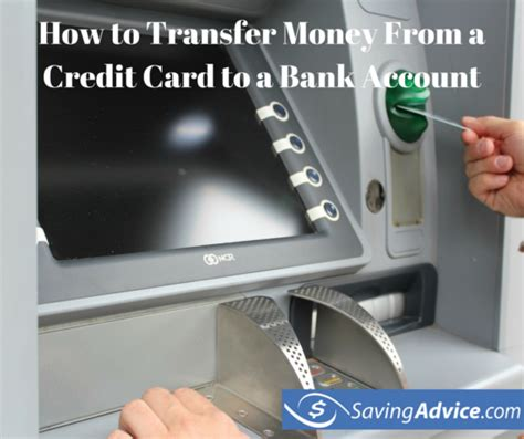 How To Transfer Gift Card To Bank Account - how to transfer money from a credit card to a bank account savingadvice com blog