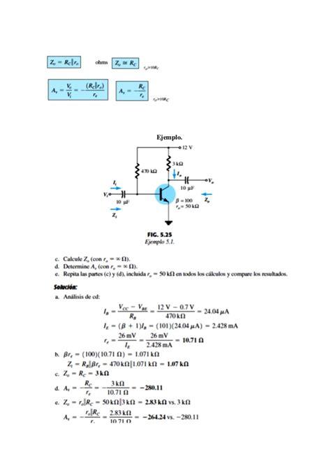 transistor bjt en pequeña señal an 193 lisis de transistores bjt en peque 209 a se 209 al