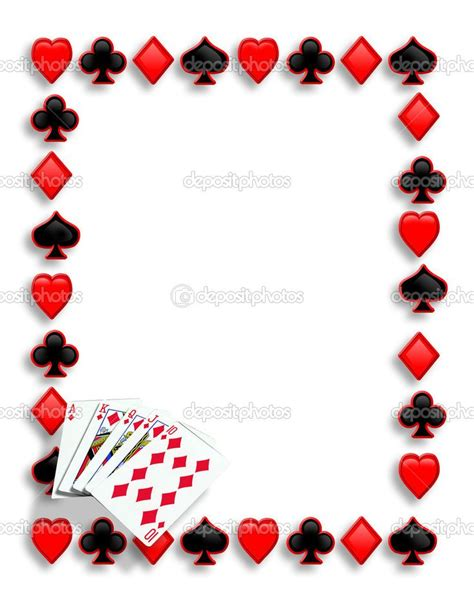 playing card invitation template free birthday