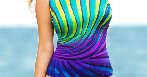 Solar Swimsuit To Power Gizmos by Longitude Solar Power Plus Size One Shoulder Swimsuit