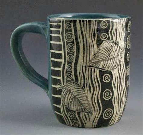 ceramic mug design ideas bonito pinturas dib etc pinterest sgraffito