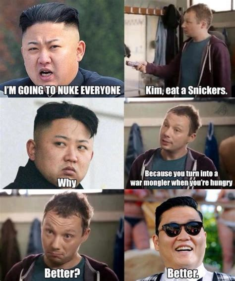 Kim Jong Un Snickers Meme - lame cherry apr 7 2013
