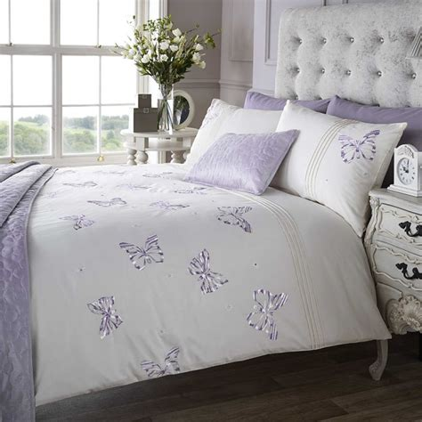Lilac Duvet Cover Embroidered Butterfly Lilac Quilt Cover Tony S